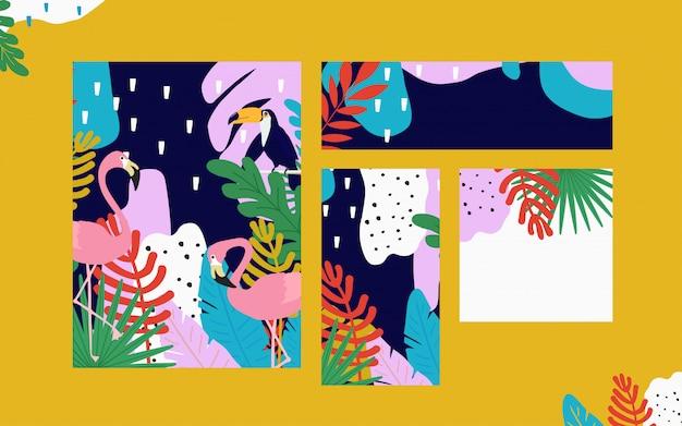 La giungla tropicale lascia la priorità bassa delle schede