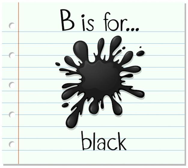 La lettera b di flashcard è per il nero