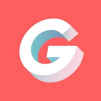 La lettera g vettoriale