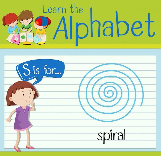 La lettera s di flashcard è per spirale