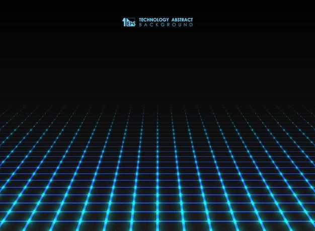 La linea di griglia quadrata futuristica astratta modella il fondo.