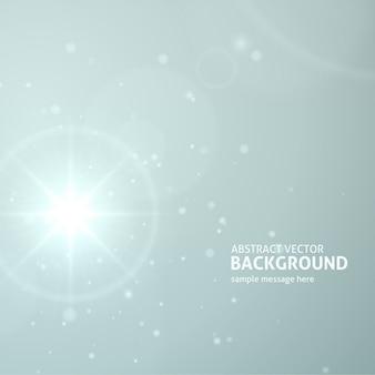 La luce astratta del chiarore della lente ha scoppiato o il sole con i raggi vector il fondo.