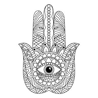 La mano di fatima con un design ornamentale