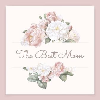La migliore mamma lettering