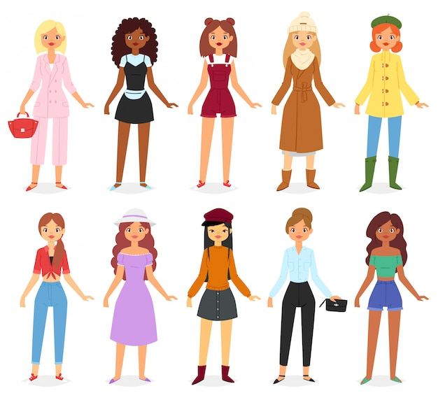 La moda donna sembra set di vestiti