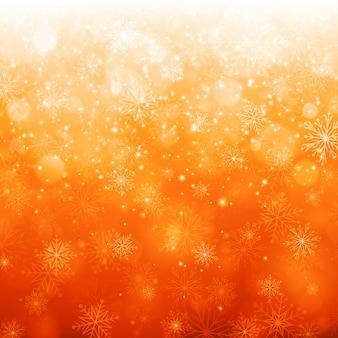 La neve magica dell'inverno di natale scintilla luci e fiocchi di neve con l'illustrazione in bianco del copyspace