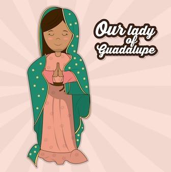 La nostra signora di guadalupe simbolo del santo sacro
