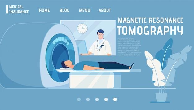 La pagina di destinazione offre la risonanza magnetica come parte dell'assicurazione medica