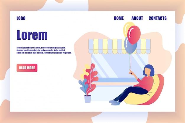 La pagina di destinazione offre un servizio di organizzazione delle festività