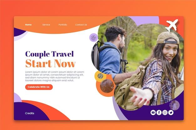 La pagina di destinazione viaggia con l'immagine