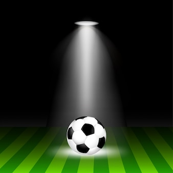 La palla è sul campo con l'illuminazione.