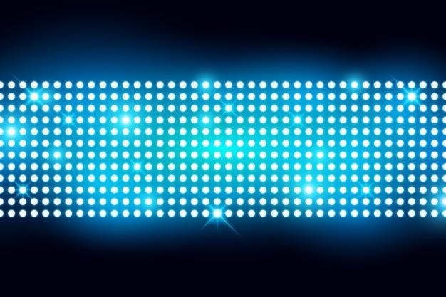 La parete ha condotto lo schermo leggero con l'illustrazione di vettore della lampadina
