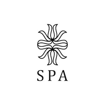La parola spa logo tipografia vettoriale