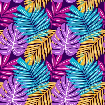 La pianta tropicale senza cuciture lascia la palma di monstera