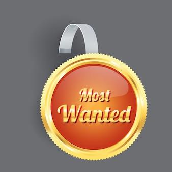 La più ricercata etichetta arancione e badge wobbler con bordo in oro con striscia trasparente