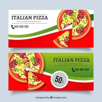 La pizza offre banner