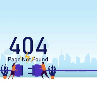 La presa di tirata delle coppie di concetto di vettore piano della pagina di errore prova a collegarlo.