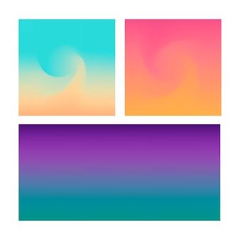 La priorità bassa astratta di gradiente ha impostato su colore viola blu e rosa di abd