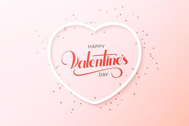 La progettazione felice della cartolina d'auguri di san valentino con carta ha tagliato le mongolfiere rosse che volano e cuori nel bianco. illustrazione.