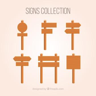 La raccolta di legno firma dentro la progettazione piana