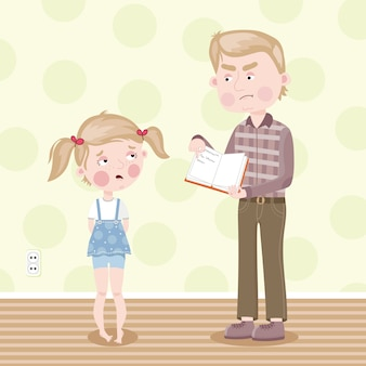 La ragazza è stata incolpata per i compiti poveri