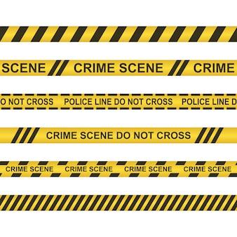 La scena del crimine non attraversa l'illustrazione isolata su bianco