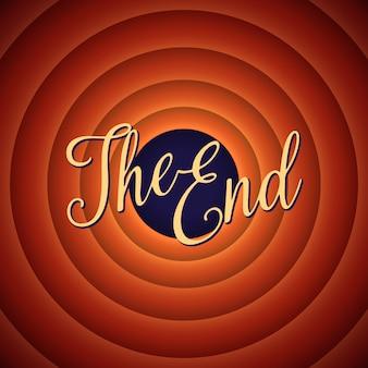 La schermata finale del film