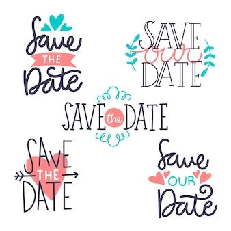 La scritta salva la data impostata