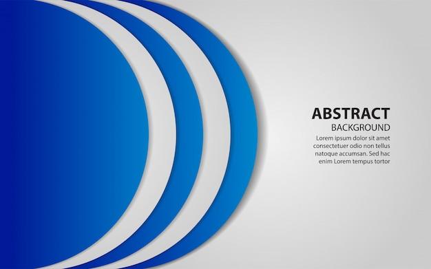 La sovrapposizione blu e bianca astratta mette a strati il fondo