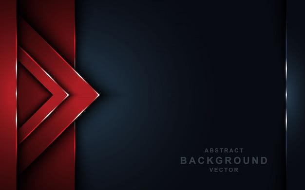 La sovrapposizione rossa astratta mette a strati il fondo scuro.