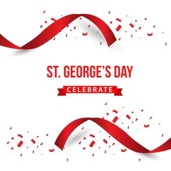 La st george's day celebra la progettazione del modello vettoriale