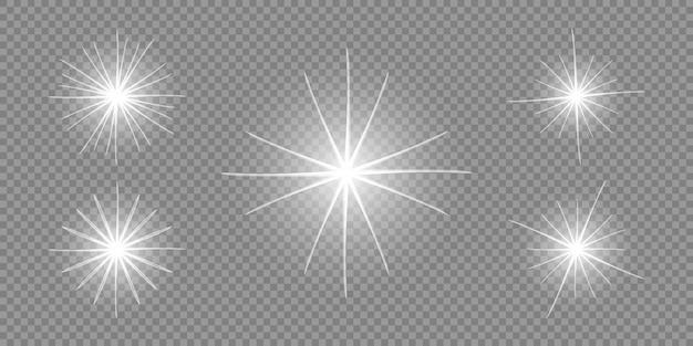 La stella esplode sfondo trasparente.