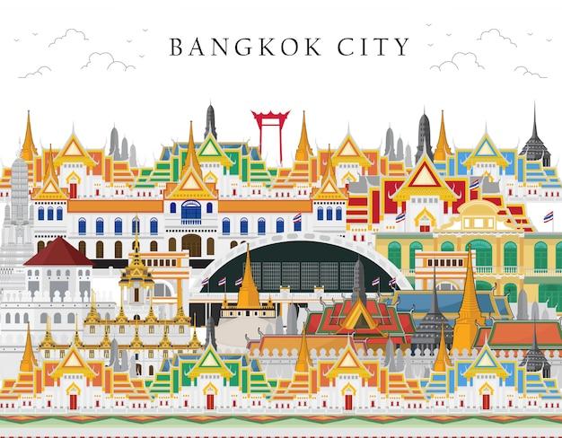 La tailandia, bangkok in tailandia con le attrazioni, punto di riferimento