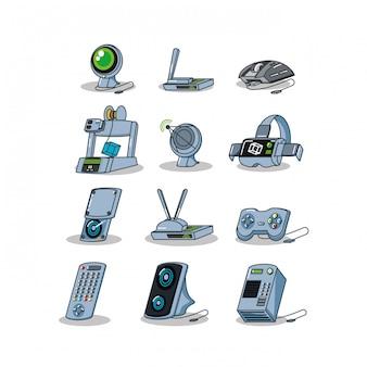 La tecnologia dell'attrezzatura imposta i gadget