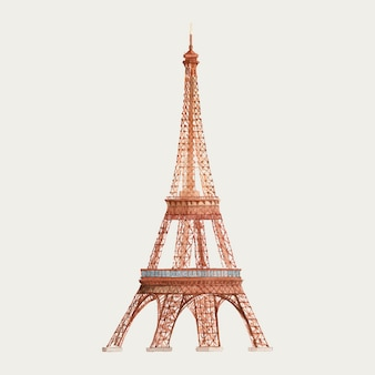 La torre eiffel in francia illustrazione dell'acquerello