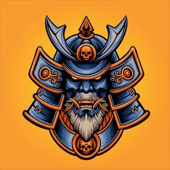 La vecchia illustrazione del samurai