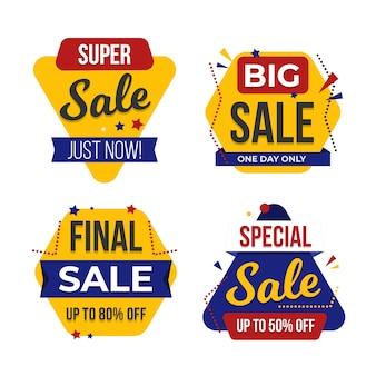 La vendita di fine stagione offre un set di banner
