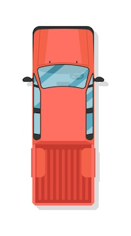 La vista superiore prende il camion isolato