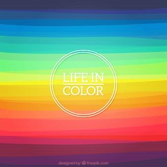 La vita in colore di sfondo