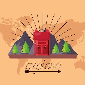 La voglia di viaggiare esplora il paesaggio