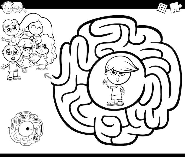 Labirinto attività gtame con i bambini