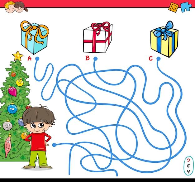 Labirinto del percorso natalizio