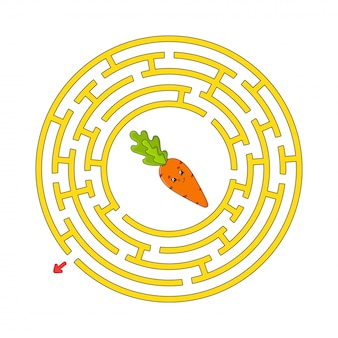 Labirinto divertente cerchio.