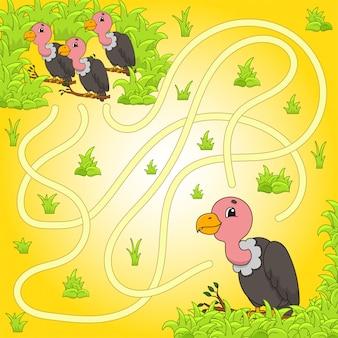 Labirinto divertente, gioco per bambini.