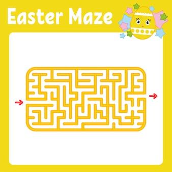 Labirinto. gioco per bambini. labirinto divertente pagina delle attività. puzzle per bambini.