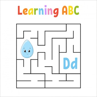 Labirinto quadrato gioco per bambini.