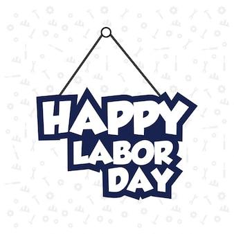 Labor day giallo hanging testo