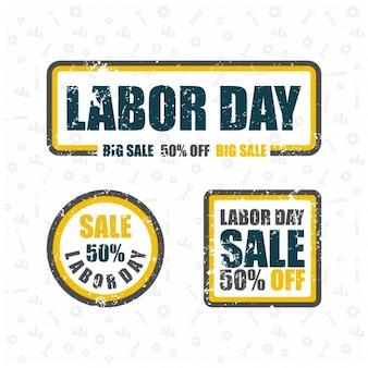 Labor day grande vendita grunge timbro di gomma