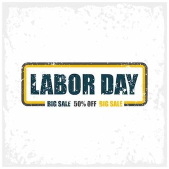 Labor day grande vendita timbro di gomma del grunge