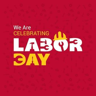 Labor day poster modello tipografia